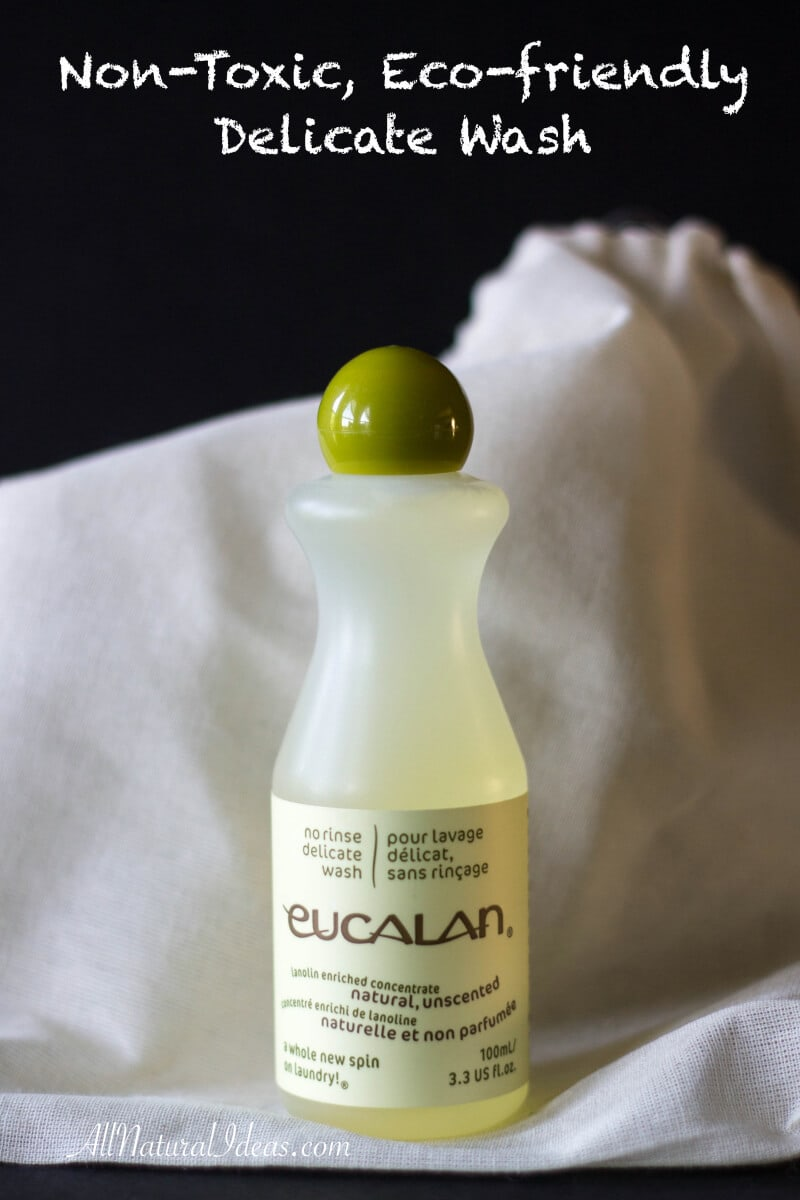 Eucalan wash is safe for most delicate fabrics. It's non-toxic, biodegradable, phosphate free and petro-chemical free. Eucalan is also 100% biodegradable!