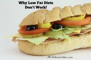 Why low fat diets don't work long term