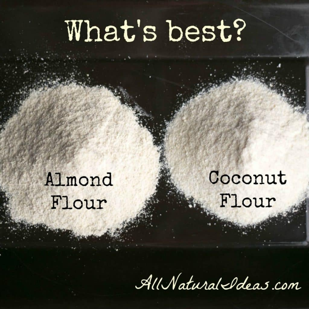 Wondering which of the low carb flours is best for cooking and baking? Let's compare almond flour vs coconut flour so you can decide. | allnaturalideas.com