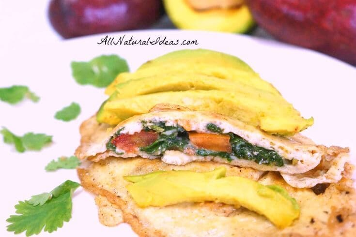 Eggs make a perfect meal any time of day. Try this yummy spinach tomato avocado omelette recipe for dinner and you'll be full the rest of the night!