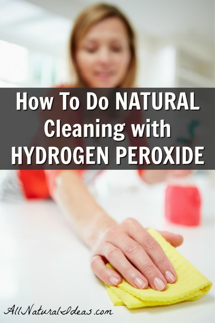 One of the items you likely have in your first aid kit has another purpose. Cleaning with hydrogen peroxide is a fantastic way to clean without chemicals. | allnaturalideas.com