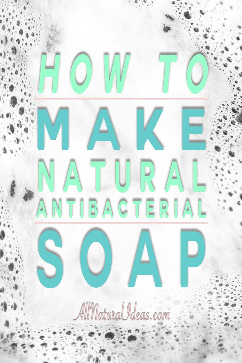 With essential oils, you can make your own all natural antibacterial soap. You'll want to keep this foaming hand soap for every sink in your house! | allnaturalideas.com