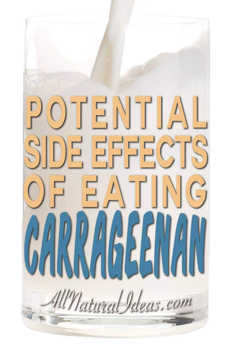 Carrageenan health risks and side effects