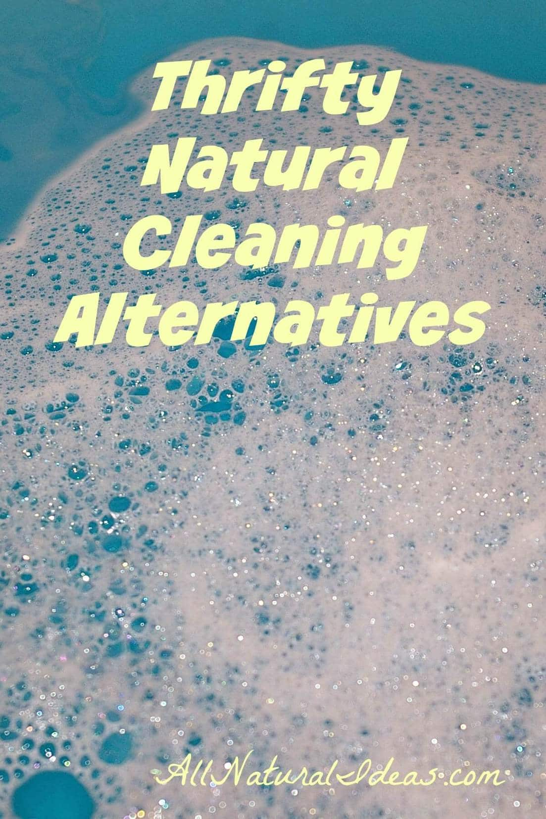 Tired of paying high prices for cleaning supplies? Worried synthetic chemicals are bad for your family. Here are thrifty natural cleaning alternatives! | allnaturalideas.com