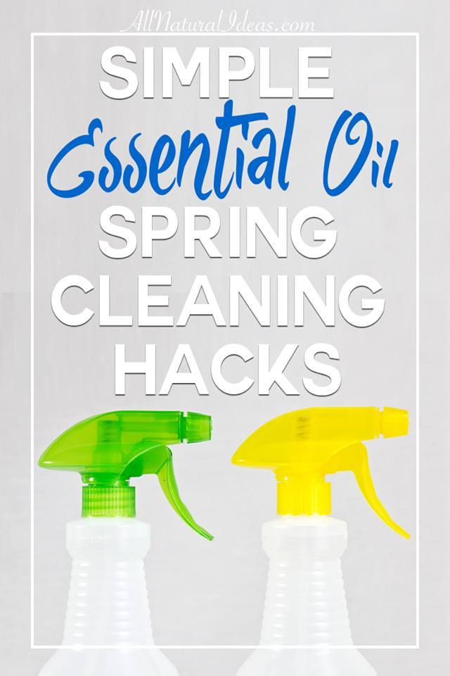 Time to get going on some spring cleaning! Check out these simple essential oil spring cleaning hacks to get the job done quickly! | allnaturalideas.com