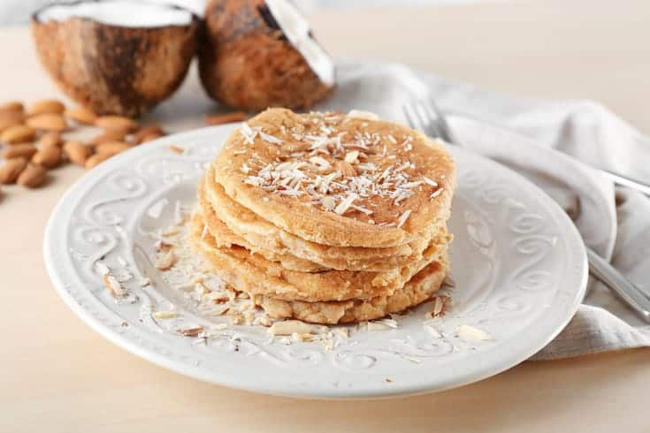 pancakes made with low carb flours