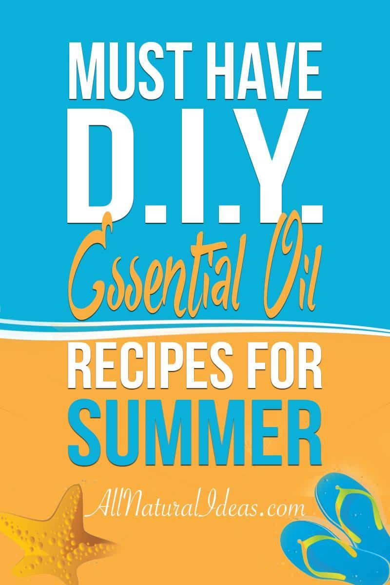 A collection of must have summer DIY essential oil recipes. Once you give them a try, these recipes are sure to become warm weather favorites! | allnaturalideas.com