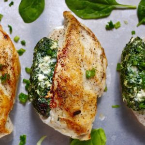 BASIL AND BUBBLY spinachstuffedchickenabove