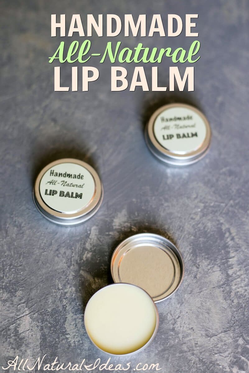 It's quick and easy to make your own all natural handmade lip balm. It saves money too! Use essential oils for added scent or add natural flavoring. | allnaturalideas.com