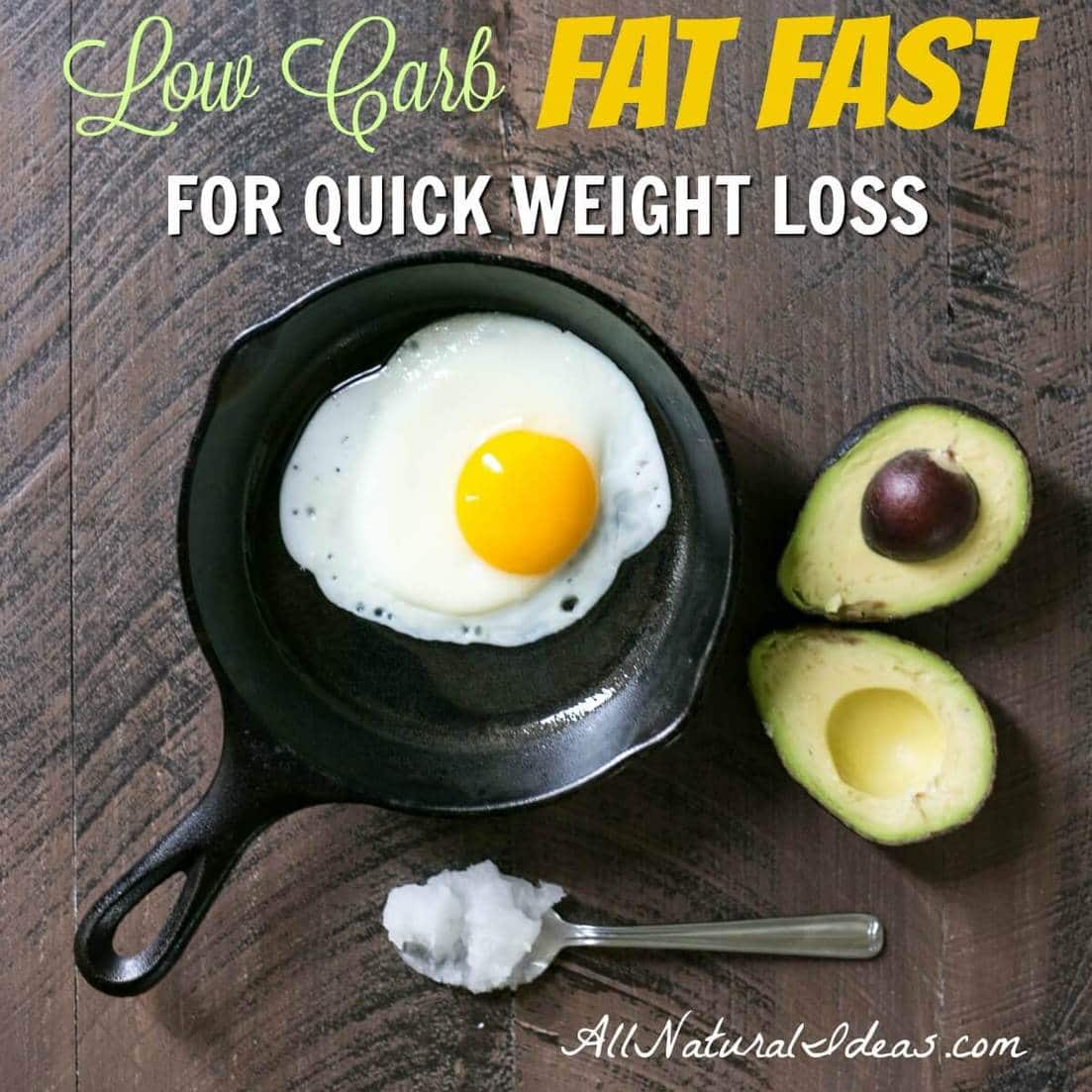 Fat Fast Diet Menu for Quick Weight Loss