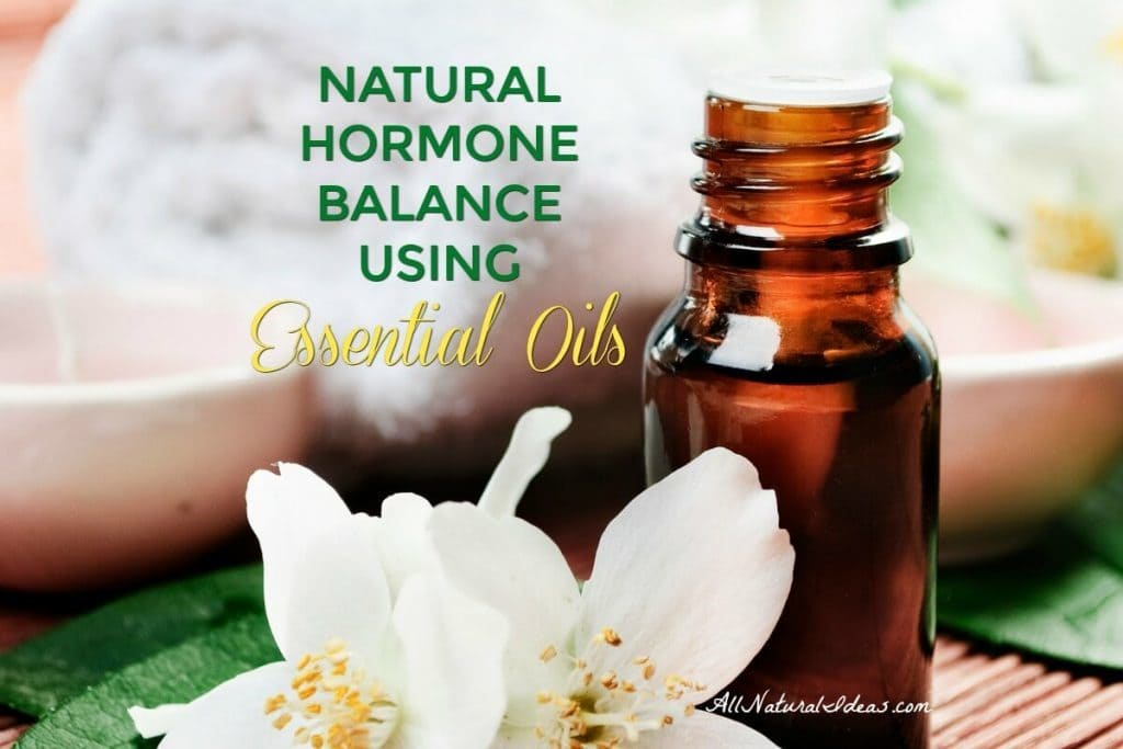 Having trouble losing weight? Feeling irritable lately? It may be hormonal imbalance. Find out to achieve natural hormone balance using essential oils. | allnaturalideas.com
