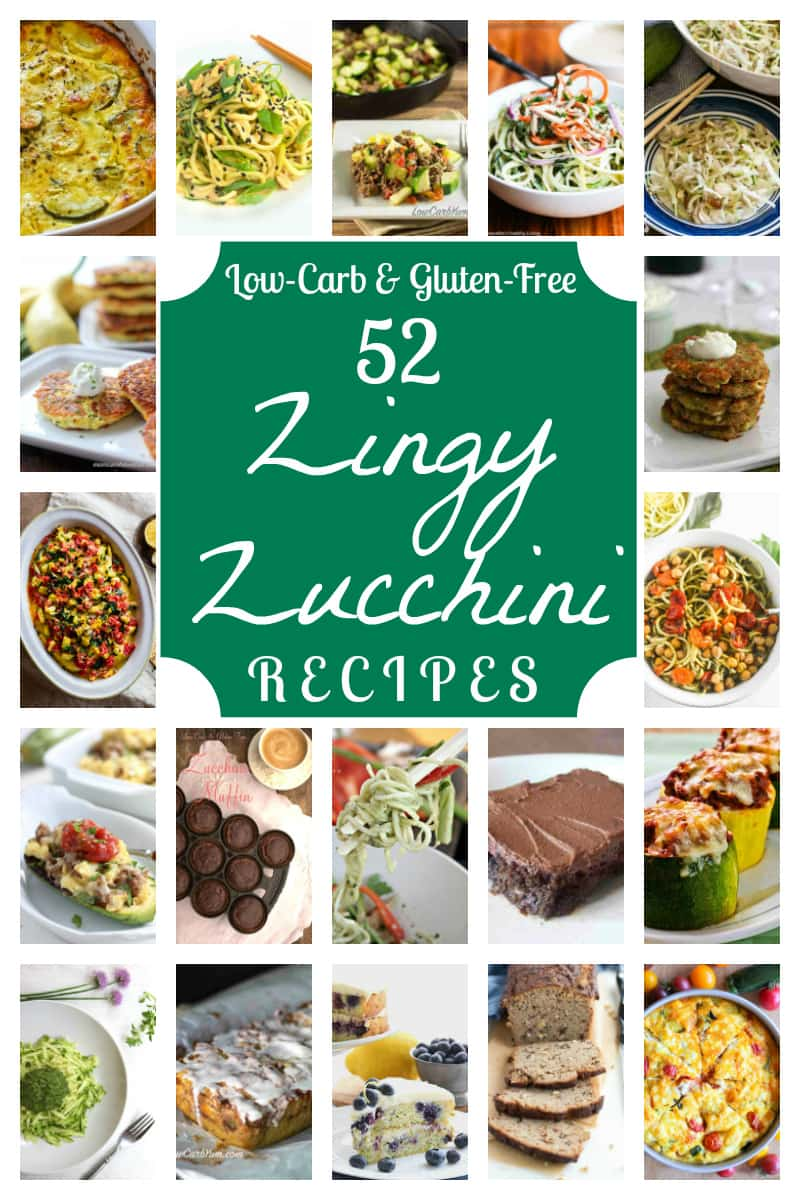 Got an abundance of zucchini in your garden? You are sure to find a new favorite recipe in this collection of 52 zingy low carb zucchini recipes! | allnaturalideas.com
