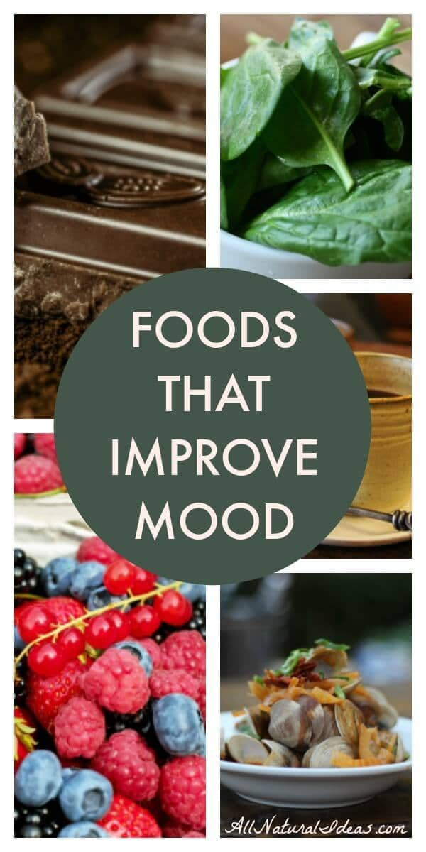 Are you feeling down? Do you need a little boost to make you happier? Try these top foods that improve mood to bring more cheer into your life. | allnaturalideas