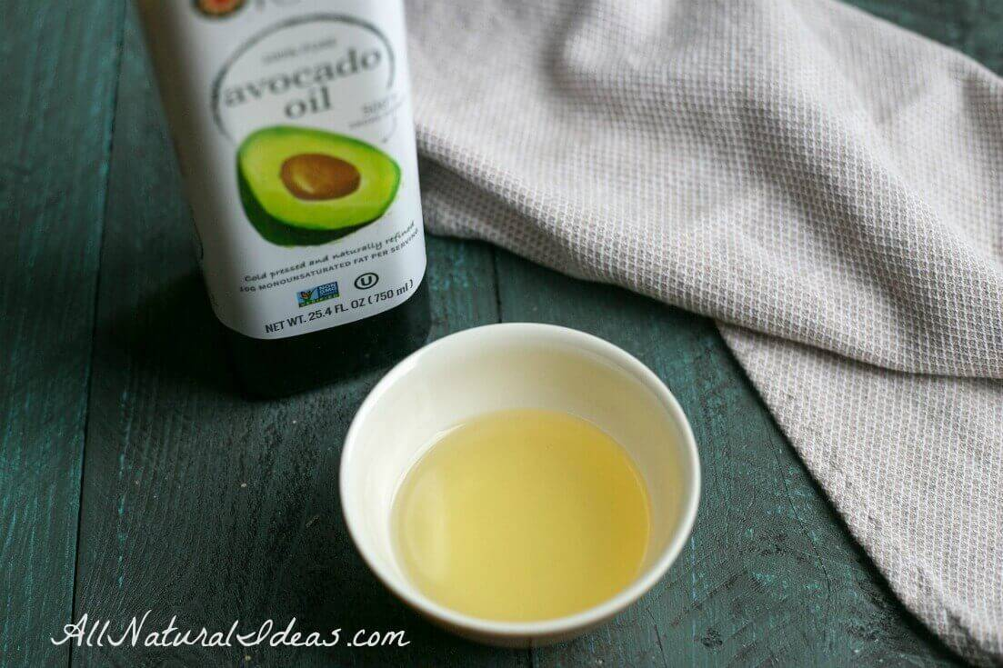Avocado oil for hair and skin