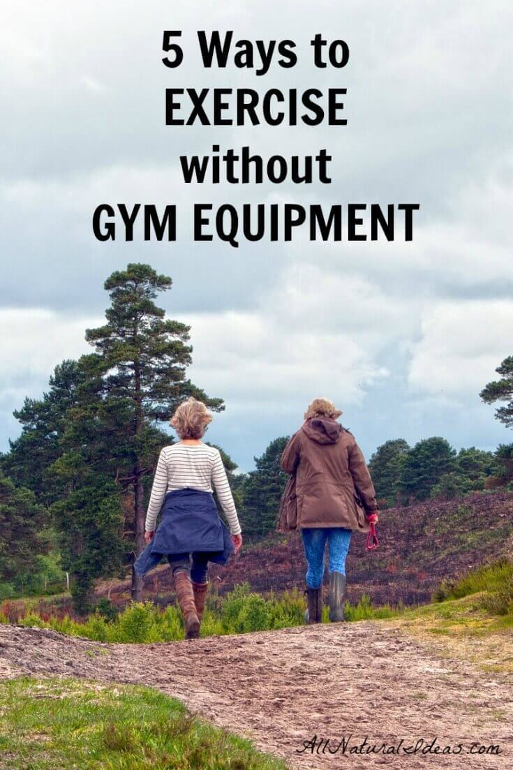 Ready to get in shape, but don't have the money to invest in workout gear? Here's five ways to easily get your exercise without gym equipment.