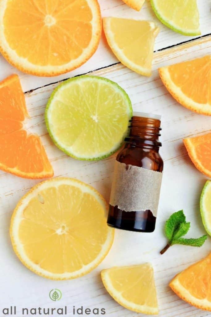 citrus essential oil bottle