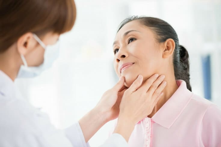 What is thyromegaly? A thyroid goiter.