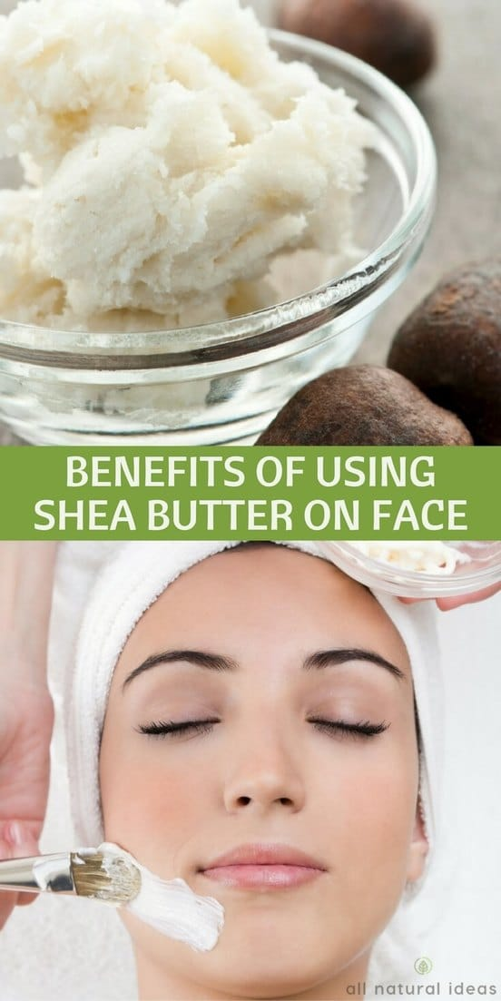Using shea butter for face treatment has been used in Africa for centuries. But is it good for your skin and can it help with acne?  | allnaturalideas.com