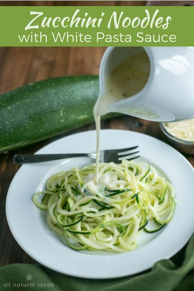 How to make zoodles and a white pasta sauce recipe