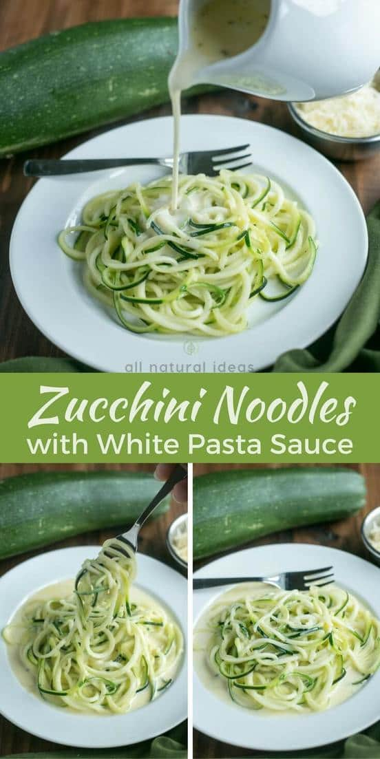 Learn how to make zoodles to transform your spaghetti dishes healthier. Enjoy them with a simple white pasta sauce or no sugar added marinara.   LowCarbYum.com