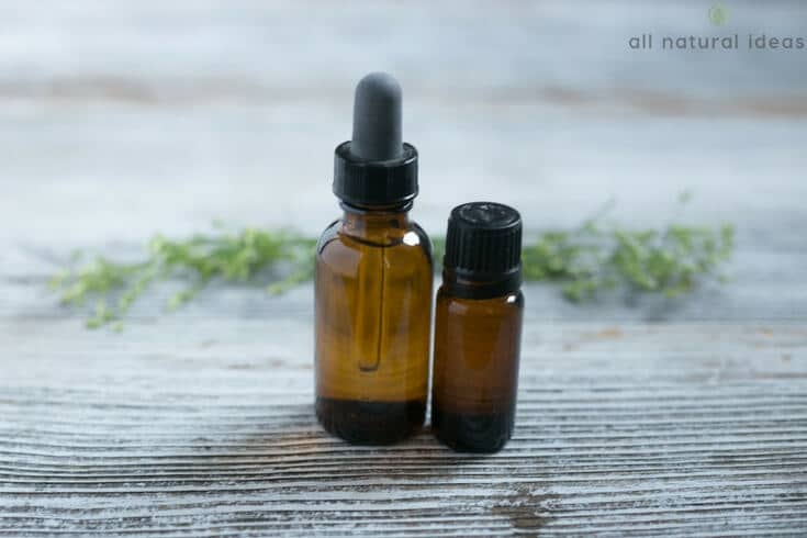 Best essential oils for eczema in a dropper and roll-on bottle