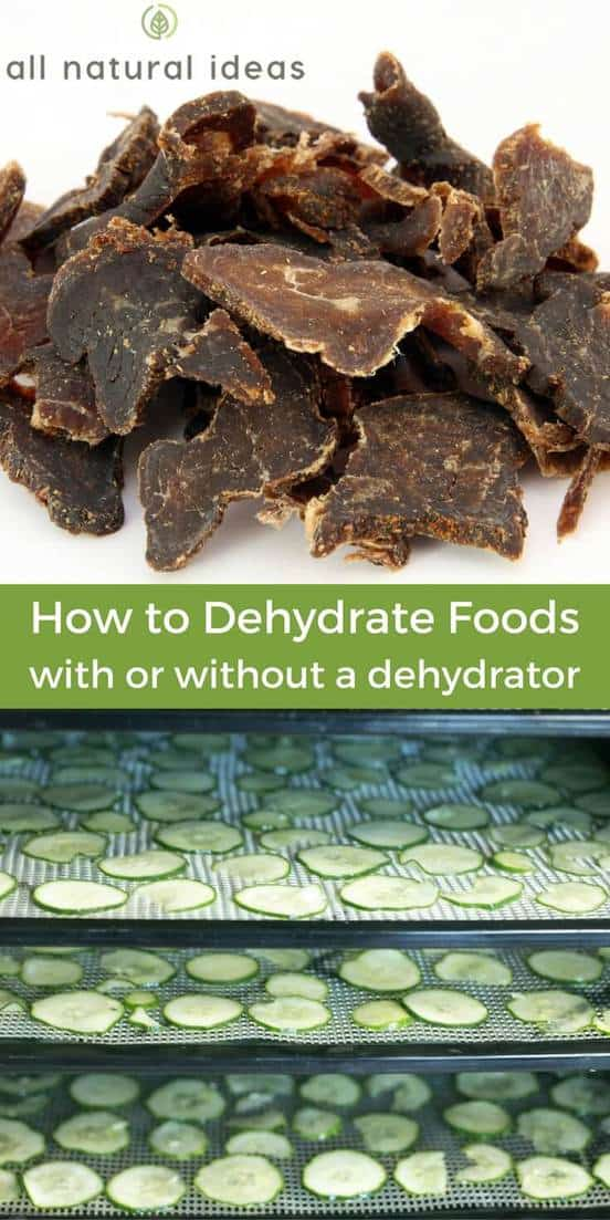 Learning how to dehydrate meat, vegetables, and other food can save you money and space. It can also keep you stocked for an emergency. | allnaturalideas.com