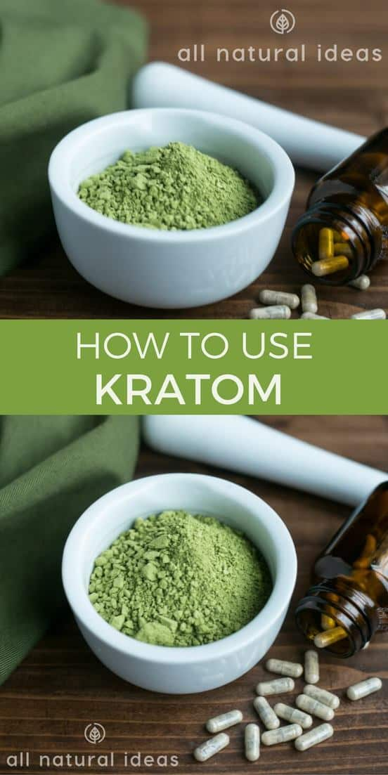 Kratom is an herbal drug growing in popularity. Here's information on how to use kratom powder and capsules for natural pain opioid addictions. | allnaturalideas.com