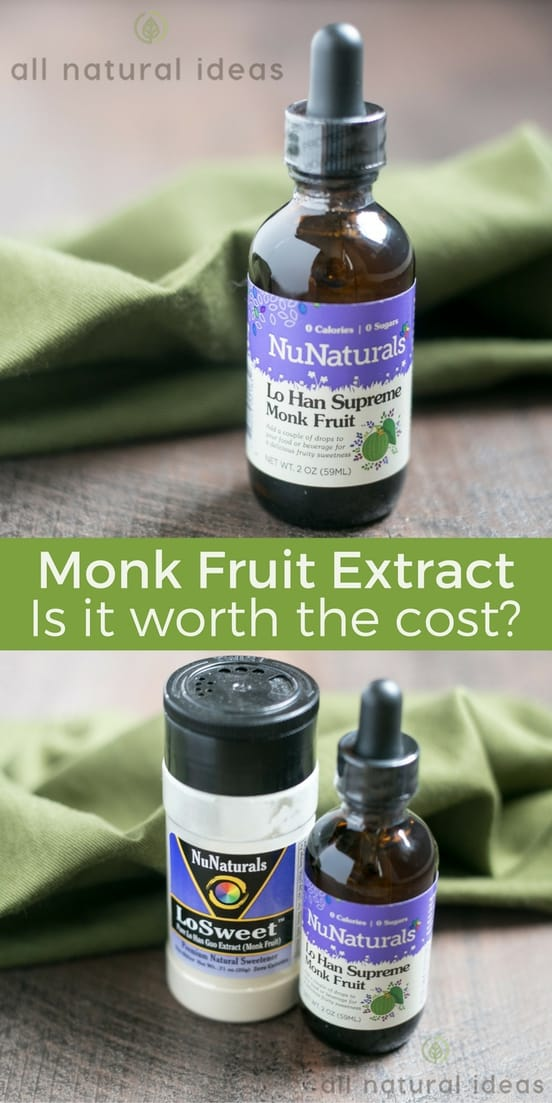 Some thinkmonk fruit extract is the healthiest and most pleasing to the palette natural low carb sweetener. But is it worth the cost? | allnaturalideas.com