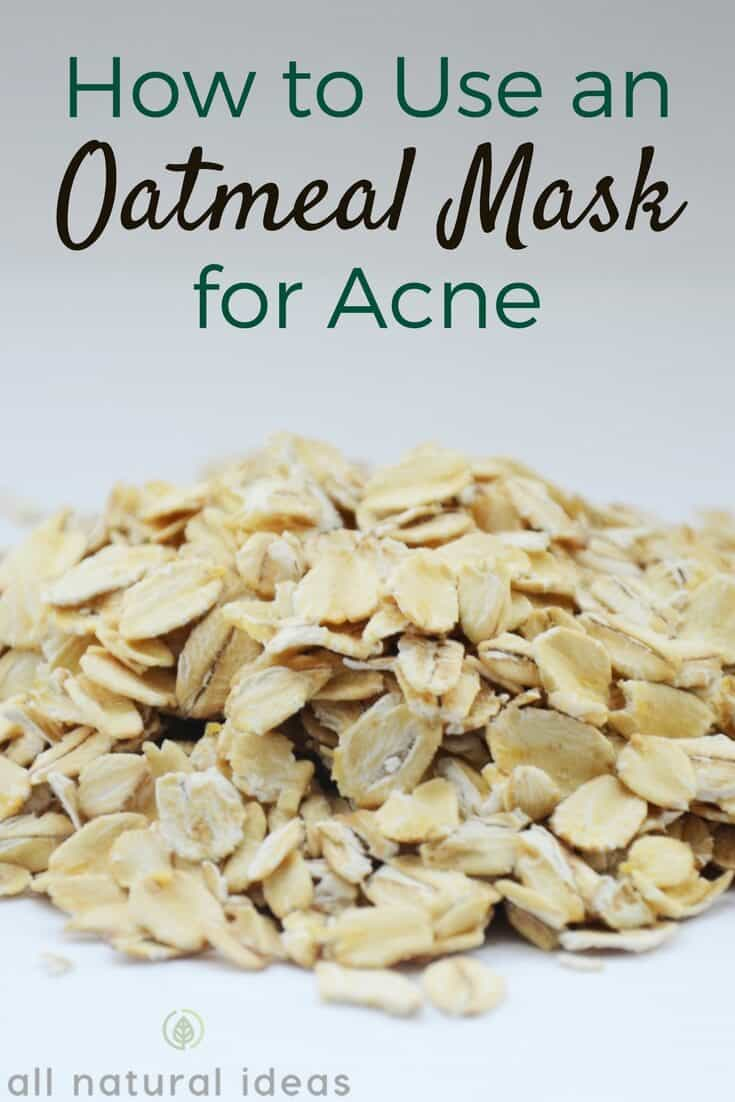 How to use an oatmeal mask for acne