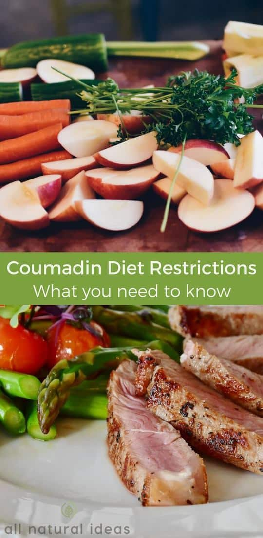 The #coumadin #diet restrictions include limiting certain healthy foods. This is because of their high vitamin K content, which can thicken the blood. | allnaturalideas