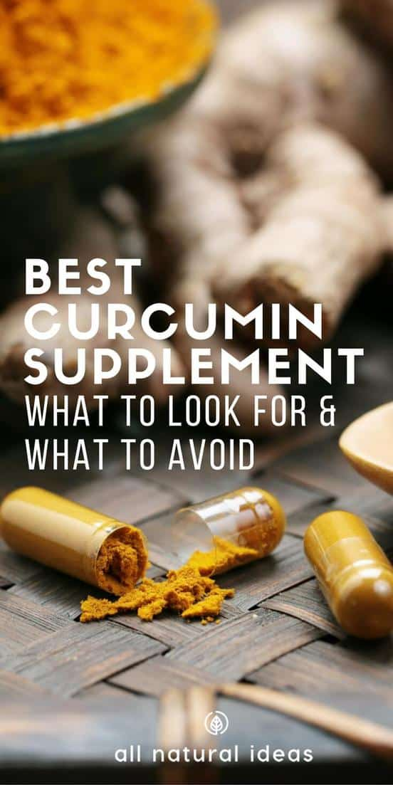 For the best curcumin supplement on the market look for other ingredients that boost absorption.These supplements are very powerful at fighting inflammation.#allnatural #curcumin #supplements | allnaturalideas.com