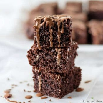 Delicious paleo brownies with paleo chocolate