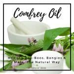Comfrey oil comes from a medicinal herb that's used for treating wounds, bruises, sprains, and more. However, it contains natural compounds that may harm your liver.