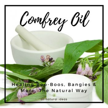 Comfrey Oil: Healing Boo-Boos the Natural Way