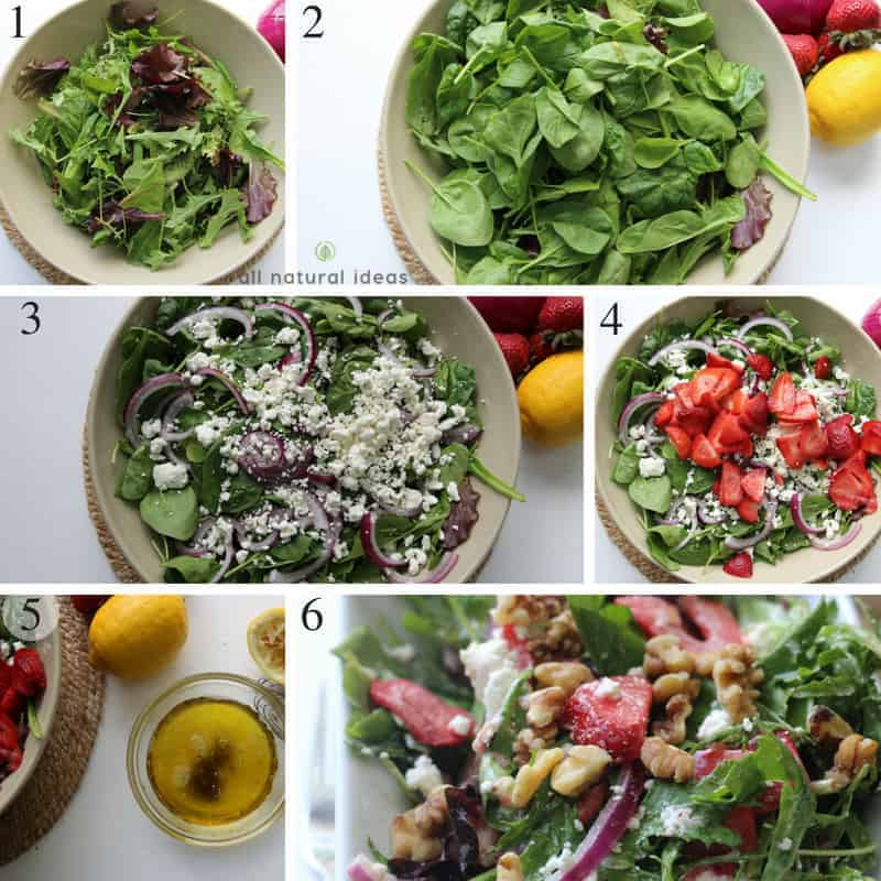 How to make an easy spinach strawberry walnut salad
