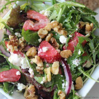 Easy Spinach Strawberry Walnut Salad Recipe