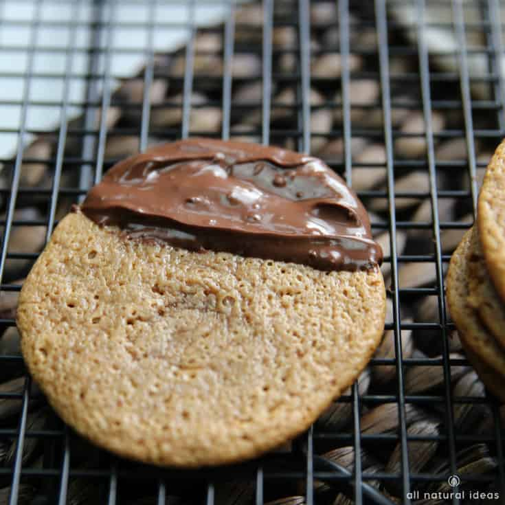 Chocolate dipped gluten free paleo almond butter cookies