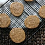 Gluten free paleo almond butter cookies cooling on rack