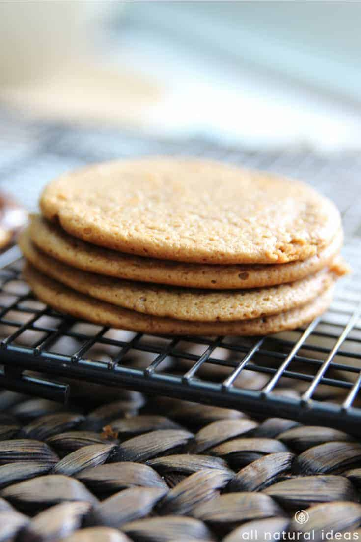 Stack of gluten free paleo almond butter cookies