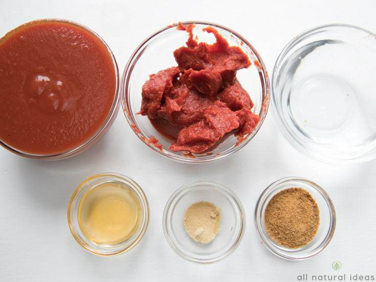 Ingredients for the best homemade paleo ketchup