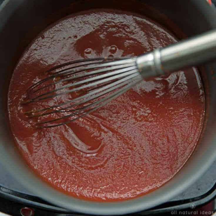 Cooking homemade paleo ketchup