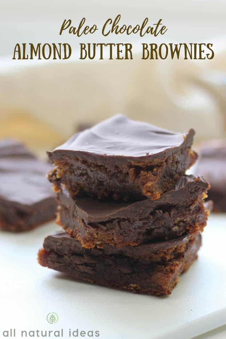 Gluten free paleo almond butter brownies recipe