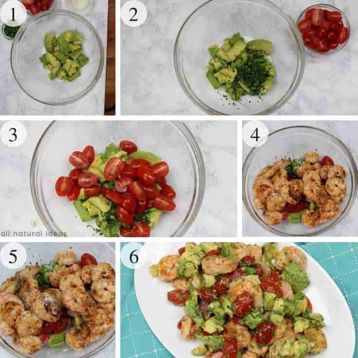 How to make a grilled Cajun shrimp and avocado salad