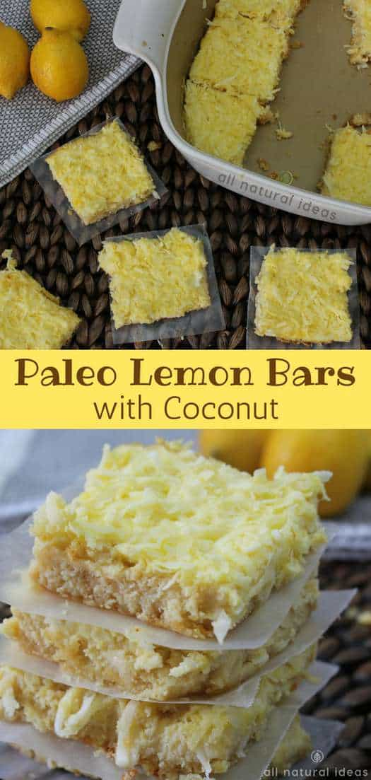 Healthy Paleo Lemon Bars with Coconut Recipe