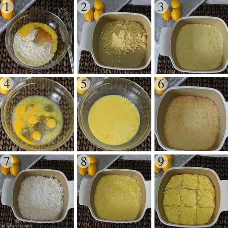 How to make healthy paleo lemon bars with coconut