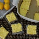 Healthy paleo lemon bars with coconut
