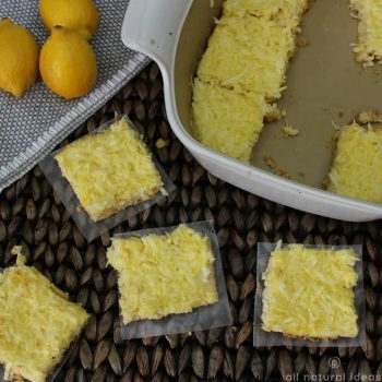 Healthy paleo lemon bars with coconut