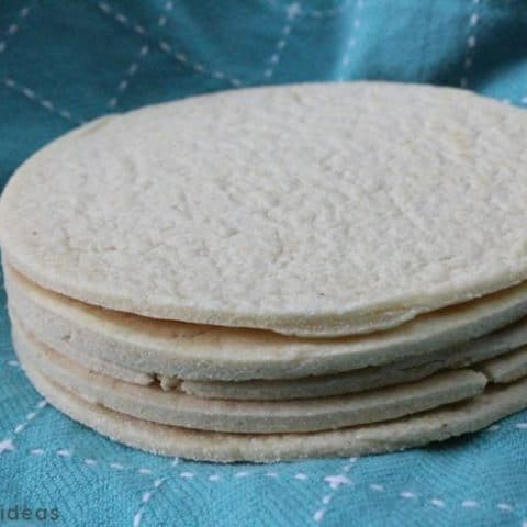 Stack of homemade low carb gluten free tortillas