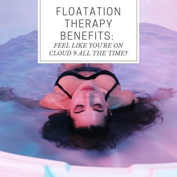 Believe it or not, being confined in a tank, deprived of your senses is one of the latest trendy spa treatments. But floatation therapy benefits include inducing relaxation and lowering anxiety.