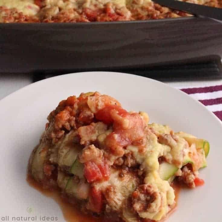 Easy Paleo Zucchini Lasagna Recipe